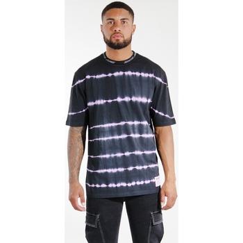 Îmbracaminte Bărbați Tricouri & Tricouri Polo Sixth June T-shirt  Tie & Dye noir/violet
