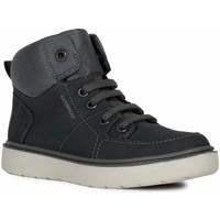 Pantofi Băieți Pantofi sport stil gheata Geox J Riddock Boy Wpf Navy Grey Blue