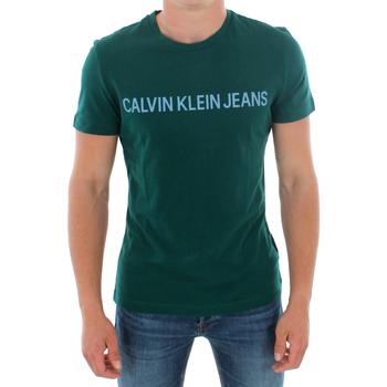 Îmbracaminte Bărbați Tricouri mânecă scurtă Calvin Klein Jeans J30J307856 383 GREEN Verde oscuro