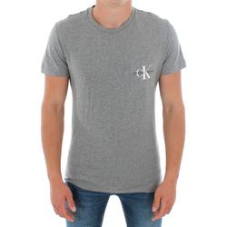 Îmbracaminte Bărbați Tricouri mânecă scurtă Calvin Klein Jeans J30J311023 039 LIGHT GREY MELANGE Gris
