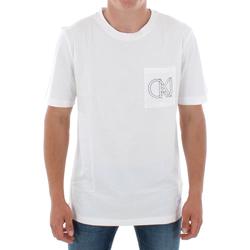 Îmbracaminte Bărbați Tricouri mânecă scurtă Calvin Klein Jeans J30J309612 112 OFF WHITE Blanco