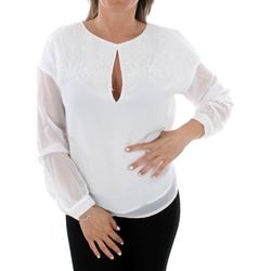 Îmbracaminte Femei Topuri și Bluze Guess W93H92W8SL0 TWHT Blanco