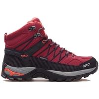 Pantofi Femei Drumetie și trekking Cmp Rigel Mid Wmn WP Negre, Gri, Vișiniu
