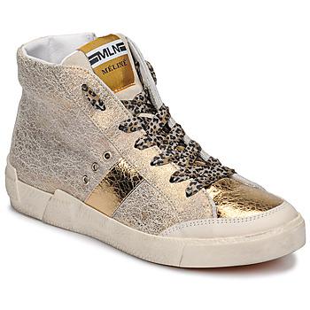 Pantofi Femei Pantofi sport stil gheata Meline NK1384 Auriu