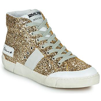 Pantofi Femei Pantofi sport stil gheata Meline NKC1369 Auriu
