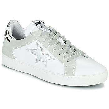 Pantofi Femei Pantofi sport Casual Meline KUC256 Alb / Argintiu / Zebra