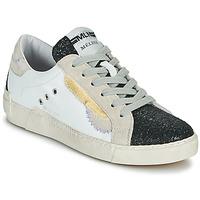 Pantofi Femei Pantofi sport Casual Meline NKC139 Alb / Glitter / Negru