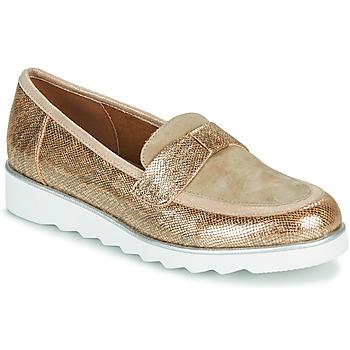Pantofi Femei Mocasini Sweet BETOUN Auriu