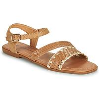 Pantofi Femei Sandale  The Divine Factory TX4339 Camel