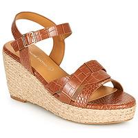 Pantofi Femei Sandale  The Divine Factory QL4351 Camel