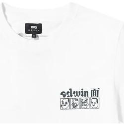 Îmbracaminte Bărbați Tricouri mânecă scurtă Edwin T-shirt  Hokusai Noh Masks blanc/noir
