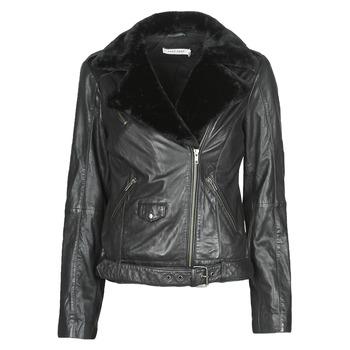 Îmbracaminte Femei Jachete din piele și material sintetic Naf Naf CILL Negru