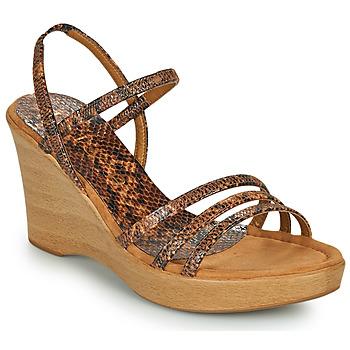Pantofi Femei Sandale  Unisa RENERA Maro / Piton