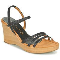 Pantofi Femei Sandale  Unisa RENERA Negru
