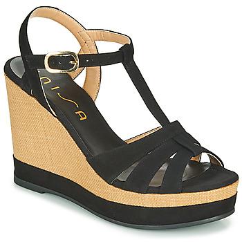 Pantofi Femei Sandale  Unisa MANACOR Negru