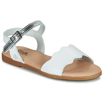Pantofi Fete Sandale  Citrouille et Compagnie OBILO Alb