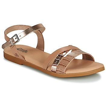 Pantofi Fete Sandale  Citrouille et Compagnie OBINOU Tan / Auriu
