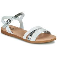 Pantofi Fete Sandale  Citrouille et Compagnie OBINOU Alb / Argintiu