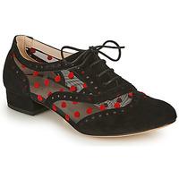 Pantofi Femei Pantofi Oxford Fericelli ABIAJE Negru / Roșu
