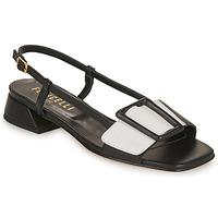 Pantofi Femei Sandale  Fericelli PANILA Negru / Alb
