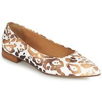 Pantofi Femei Balerin și Balerini cu curea Fericelli SELENA Alb / Auriu
