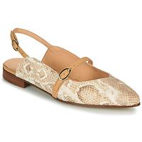 Pantofi Femei Balerin și Balerini cu curea Fericelli SUSANNA Alb