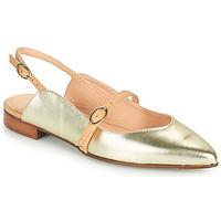 Pantofi Femei Balerin și Balerini cu curea Fericelli SUSANNA Auriu
