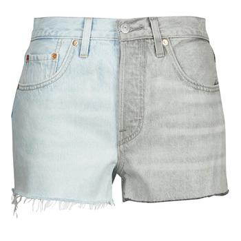 Îmbracaminte Femei Pantaloni scurti și Bermuda Levi's ICE BLOCK Albastru / Gri