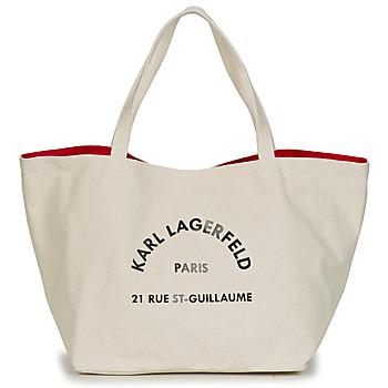 Genti Femei Sacoșe shopping și Genti shopping Karl Lagerfeld RUE ST GUILLAUE CANVAS TOTE Ecru