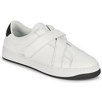 Pantofi Femei Pantofi sport Casual Kenzo ENZO KOURT SCRATCH SNEAKERS Alb