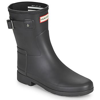 Pantofi Femei Cizme de cauciuc Hunter ORIGINAL REFINED SHORT Negru