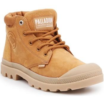 Pantofi Femei Pantofi sport stil gheata Palladium Pampa LO Cuff LEA 95561-717-M brown