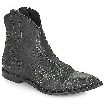 Pantofi Femei Ghete Mimmu PYTHON INTAG Negru