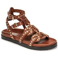 Pantofi Femei Sandale  Mimmu VITELLO-CUOIO Maro