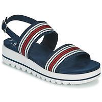 Pantofi Femei Sandale  Jana STROMAELA Albastru / Roșu / Alb