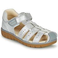Pantofi Fete Sandale  Clarks ROAM BAY K Argintiu