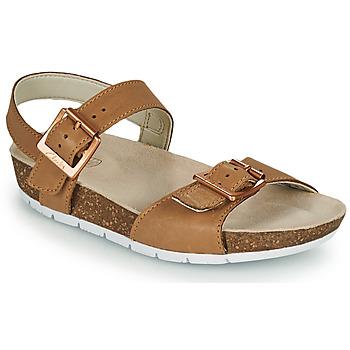 Pantofi Copii Sandale  Clarks RIVER SAND K Camel