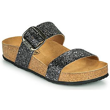Pantofi Femei Papuci de vară Plakton ROCK Negru / Paiete