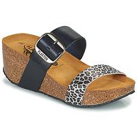 Pantofi Femei Papuci de vară Plakton SO ROCK Albastru / Leopard