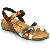 Pantofi Femei Sandale  Plakton NOTE Alamă / Roz / Argintiu