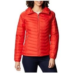 Îmbracaminte Femei Geci și Jachete Columbia WM Powder Lite Hooded Jacket Roșii