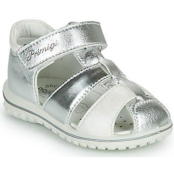Pantofi Fete Sandale  Primigi GABBY Argintiu / Alb