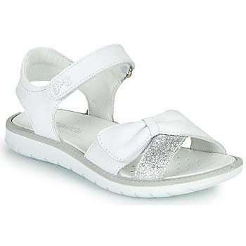 Pantofi Fete Sandale  Primigi LOLA Alb / Argintiu
