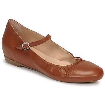 Pantofi Femei Balerin și Balerini cu curea Casual Attitude OLIVIA Camel