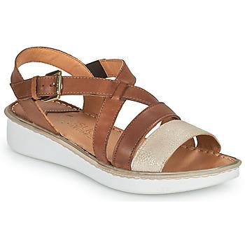 Pantofi Femei Sandale  Casual Attitude ODETTE Camel / Auriu