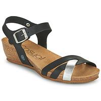 Pantofi Femei Sandale  Casual Attitude OYA Negru / Argintiu