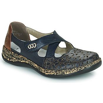 Pantofi Femei Balerin și Balerini cu curea Rieker DUBLIN Albastru