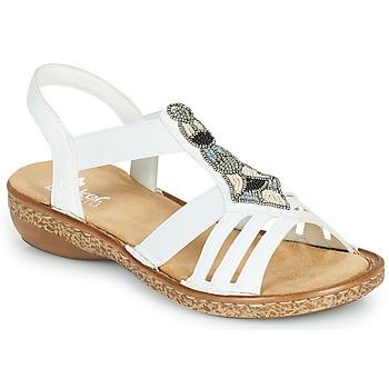 Pantofi Femei Sandale  Rieker DOLNA Alb