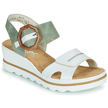 Pantofi Femei Sandale  Rieker SOLLA Verde / Alb