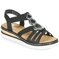 Pantofi Femei Sandale  Rieker FANNI Albastru